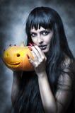 женщина состава halloween сексуальная Стоковое Изображение RF