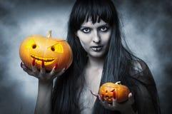 женщина состава halloween сексуальная стоковые изображения