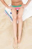 женщина солнца детали тела Стоковая Фотография RF