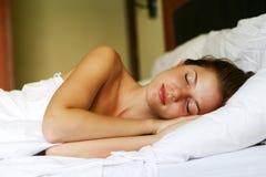 женщина спальни Стоковое Изображение