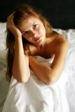 женщина спальни Стоковые Изображения RF