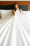женщина спальни Стоковое фото RF