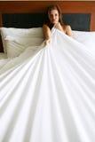 женщина спальни Стоковые Фото