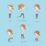 Женщина спорта красоты бежит иллюстрация вектора