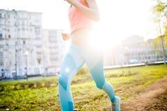 Женщина спорт на беге утра Стоковое Фото
