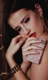 Женщина способа с bijouterie ювелирных изделий Стоковое Изображение