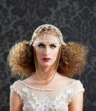 Женщина способа Hairdressing и состава Стоковое Изображение