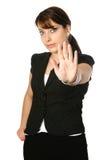 женщина спрашивая стопа Стоковое Изображение
