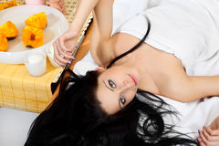 женщина спы Стоковая Фотография RF