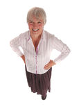 женщина старшия портрета дела тела полная Стоковое фото RF