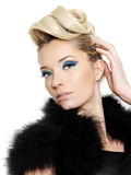 женщина стиля причёсок красотки Стоковые Изображения