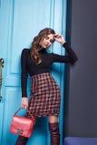 Женщина стиля моды состава одежды платья красоты сексуальная Стоковое Изображение