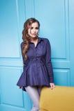 Женщина стиля моды состава одежды платья красоты сексуальная Стоковая Фотография