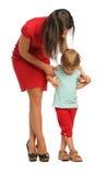 женщина стойки девушки ног скрещивания Стоковые Фотографии RF