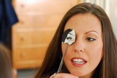 женщина стороны глаза Стоковое Изображение RF