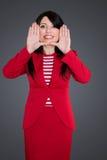женщина стороны дела обрамляя стоковое изображение rf
