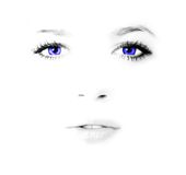 женщина стороны красотки Стоковое Изображение