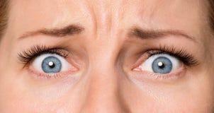 Женщина стороны с глазами и ресницами Стоковые Изображения RF