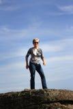 Женщина стоя готовый Стоковое Фото
