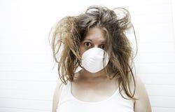 Женщина страха шальная Стоковая Фотография