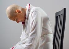 Женщина страдая от рака в боли Стоковые Изображения RF