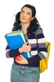женщина студента заботливая стоковые изображения rf