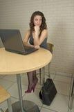 женщина студента красивейшего коллежа профессиональная Стоковые Изображения