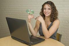 женщина студента красивейшего коллежа профессиональная Стоковые Фото