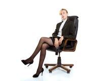 женщина стула дела сидя Стоковая Фотография