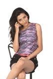 женщина стула индийская сидя Стоковая Фотография RF