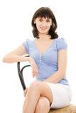 женщина стула сидя сь Стоковые Фотографии RF