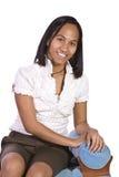женщина стула сидя Стоковое фото RF