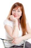 женщина стула сидя Стоковое Изображение RF