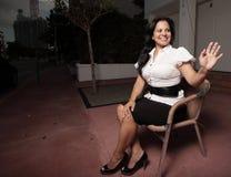 женщина стула сидя Стоковые Фотографии RF