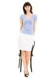 женщина стула сь Стоковые Фотографии RF