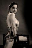 женщина стула эротичная представляя Стоковая Фотография