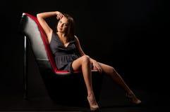 женщина стула Стоковая Фотография