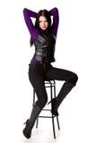 женщина стула glamourous сидя Стоковые Изображения RF