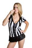 женщина судья-рефери сексуальная Стоковая Фотография RF