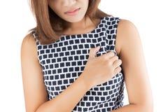 Женщина схватывает ее комод стоковая фотография rf