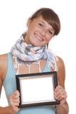 женщина счастливого фото рамки малая Стоковые Изображения