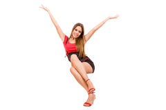 женщина счастья Стоковые Фото