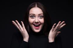 женщина счастливого портрета сь стоковая фотография