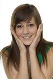 женщина сярприза жестов Стоковая Фотография RF
