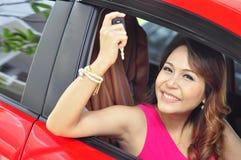 Женщина с автомобилем Стоковое фото RF