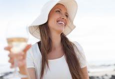 Женщина с бокалом вина Стоковое фото RF