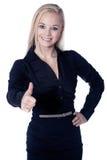 Женщина с большими пальцами руки вверх Стоковое фото RF
