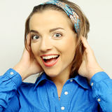 Женщина с большой счастливой улыбкой Стоковая Фотография RF