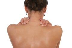 Боль шеи и мышцы плеча Стоковая Фотография RF