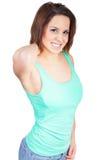 Женщина с болью шеи Стоковые Изображения RF